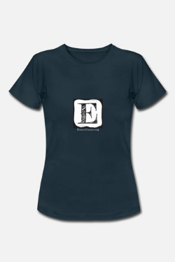 Spreadshirt E T-shirt blu