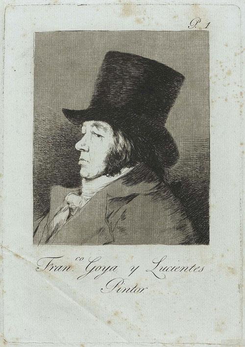 F. Goya, Los Caprichos, 1799 – Tavola 1, Autoritratto
