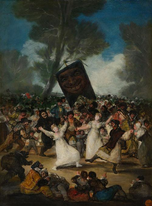 F. Goya, El entierro de la sardina, 1812-1819, Madrid, Real Academia de Bellas Artes de San Fernando