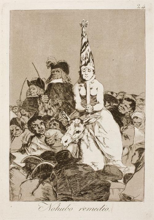 F. Goya, Los Caprichos, 1799 – Tavola 24, No hubo remedio
